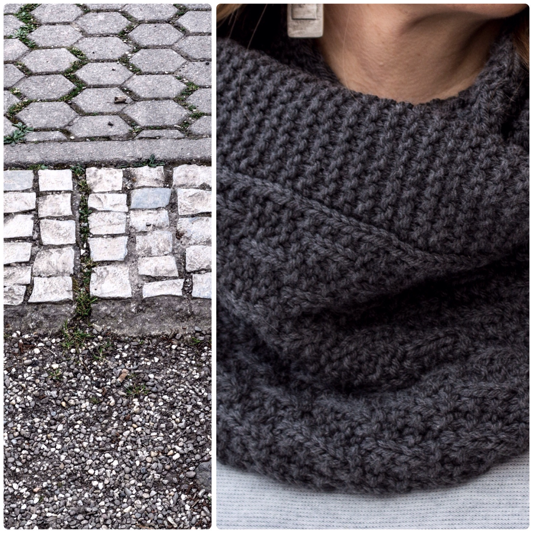 cobblestone cowl knitting pattern texture detail