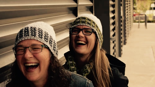 crossed furrows hat knitting